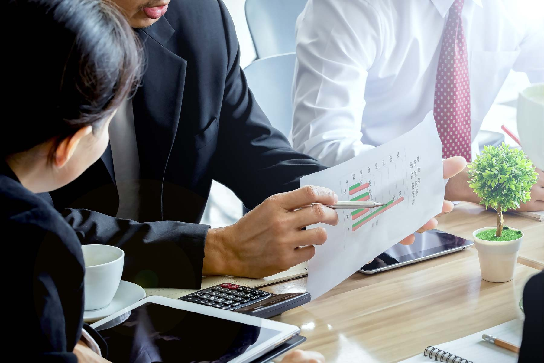 Gesprek over financiële rapportages